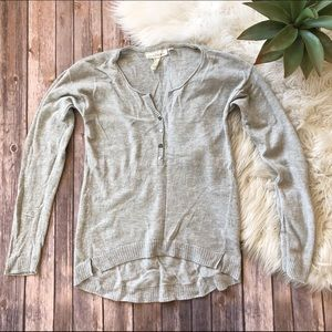 H&M Long Sleeve Henley Sweater